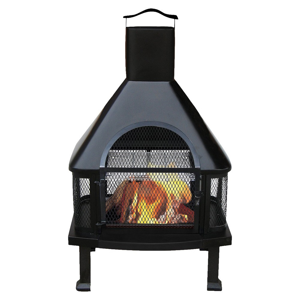 Blue Rhino Black Firehouse, Outdoor Fireplace