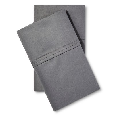 Threshold™ Performance 400 Thread Count Pillowcase Dark Gray - (King)