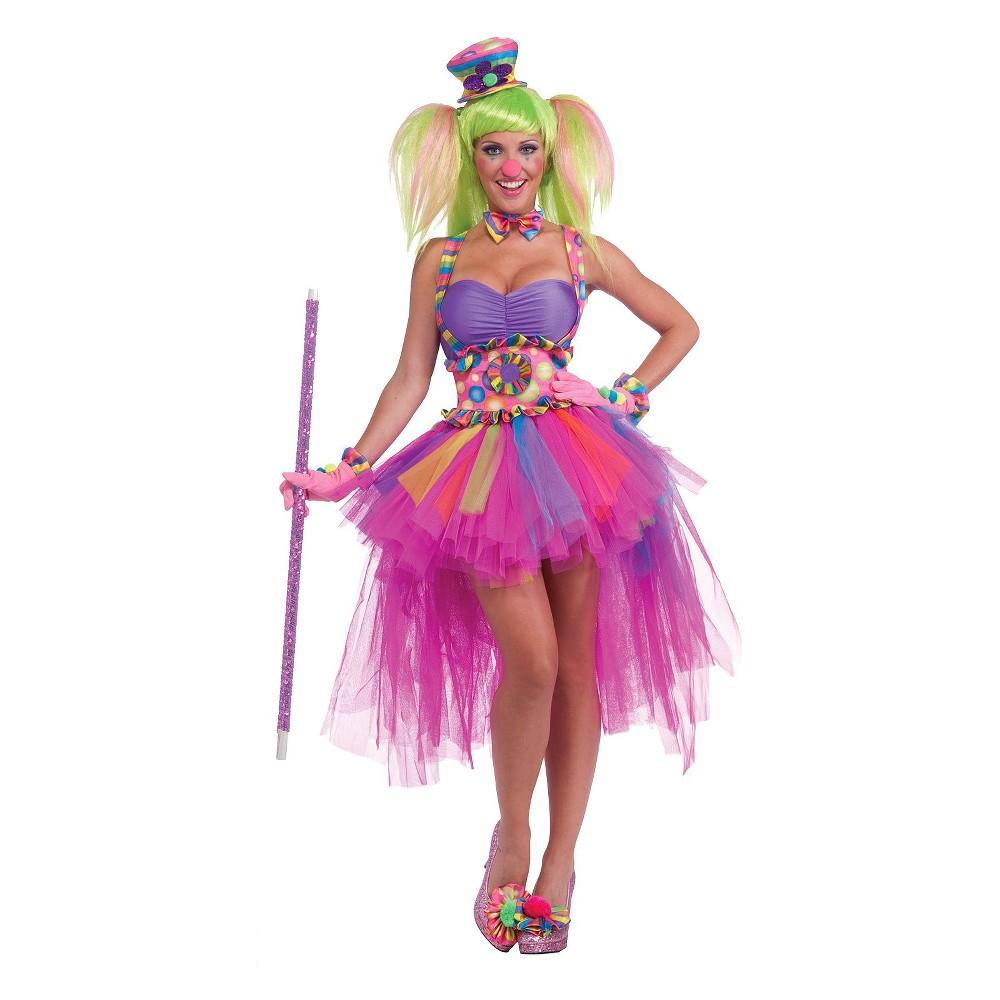Lulu The Clown Tutu Womens Costume, Multi-Colored