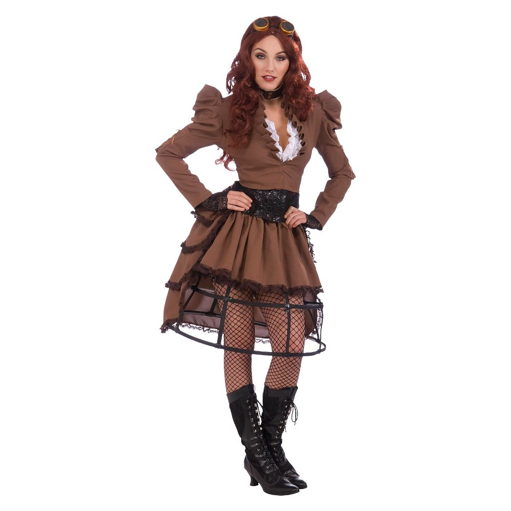Steampunk Dresses and Costumes Womens Steampunk Vicky Costume One Size Fits Most Brown $44.99 AT vintagedancer.com