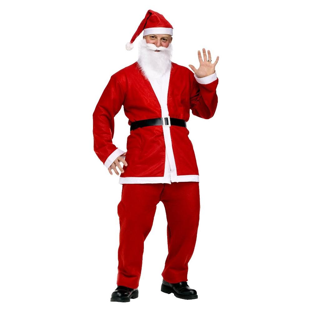 Mens Pub Crawl Santa Suit Costume, Red