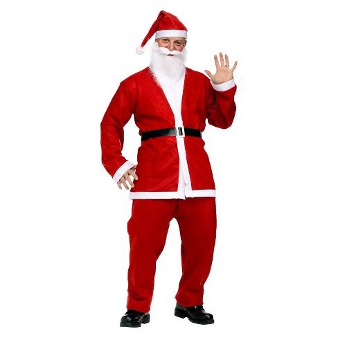 mens pub crawl santa suit costume - Santa Claus Red