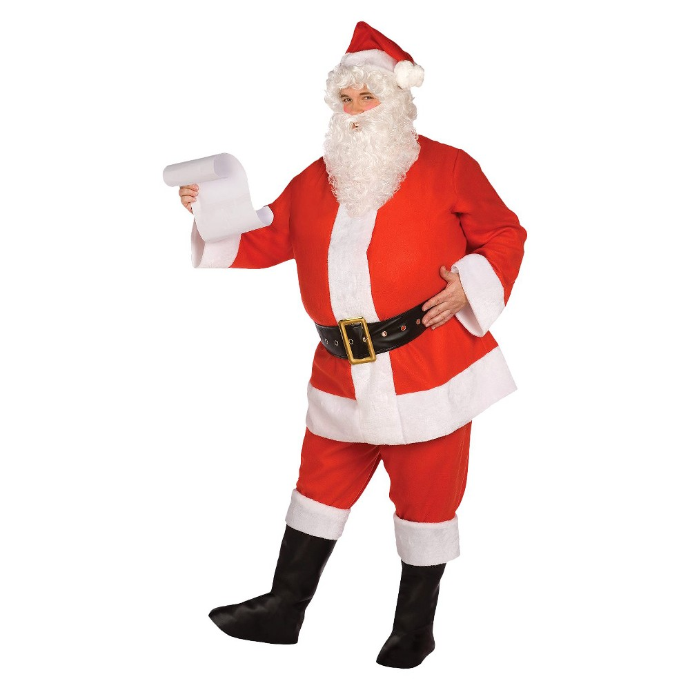 Adult Budget Complete Santa Suit Costume One Size Fits Most, Mens, Red