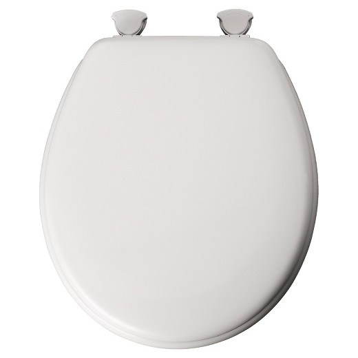 Round Molded Wood Toilet Seat with EasyClean & Change® Hinge ...