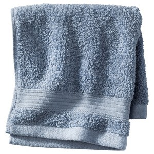 Performance Solid Hand Towel Washed Blue - Threshold