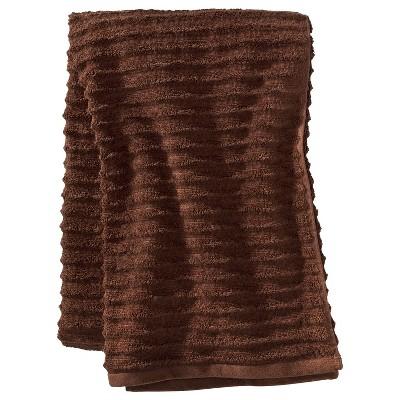 Textured Bath Sheet Dark Brown - Threshold™