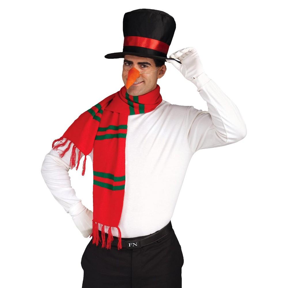 Adult Snowman Accessory Kit, Mens, Red/Black