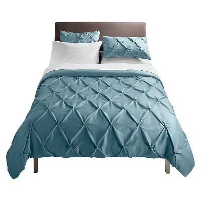 Dusty Blue Pinched Pleat Comforter Set (Full/Queen)3pc - Threshold™