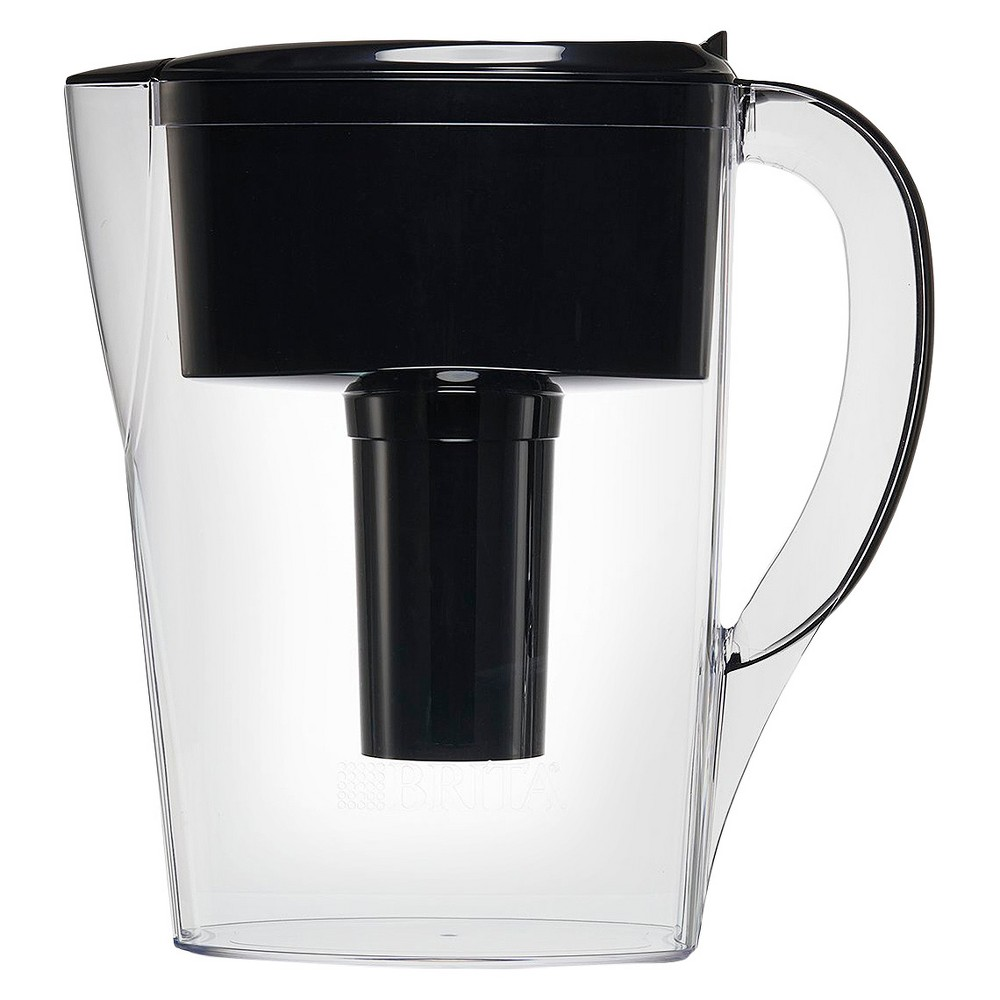 Brita Space Saver 6 Cup Water Pitcher - Black