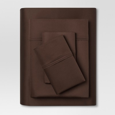Performance Sheet Set (King)Brown 400 Thread Count - Threshold™