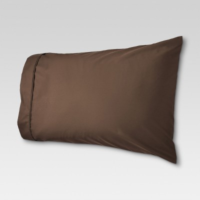 Performance 400 Thread Count Pillowcase Brown (Standard)- Threshold™
