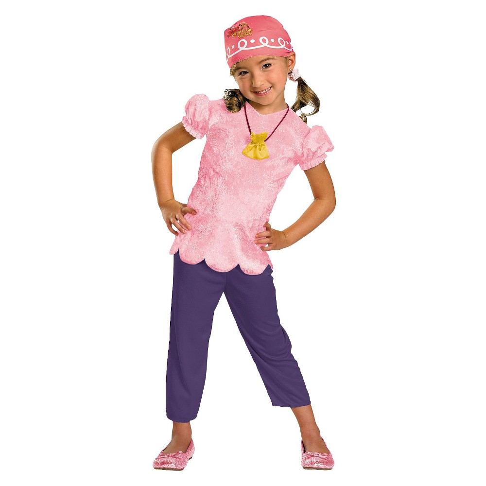 Jake And The Neverland Pirates Girls Izzy Classic Costume - Small (4-6), Size: S(4-6), Variation Parent