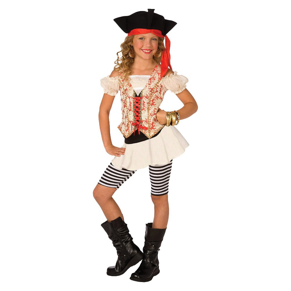 Girls Swashbuckler Costume Medium (8-10), Size: M(8-10), Variation Parent