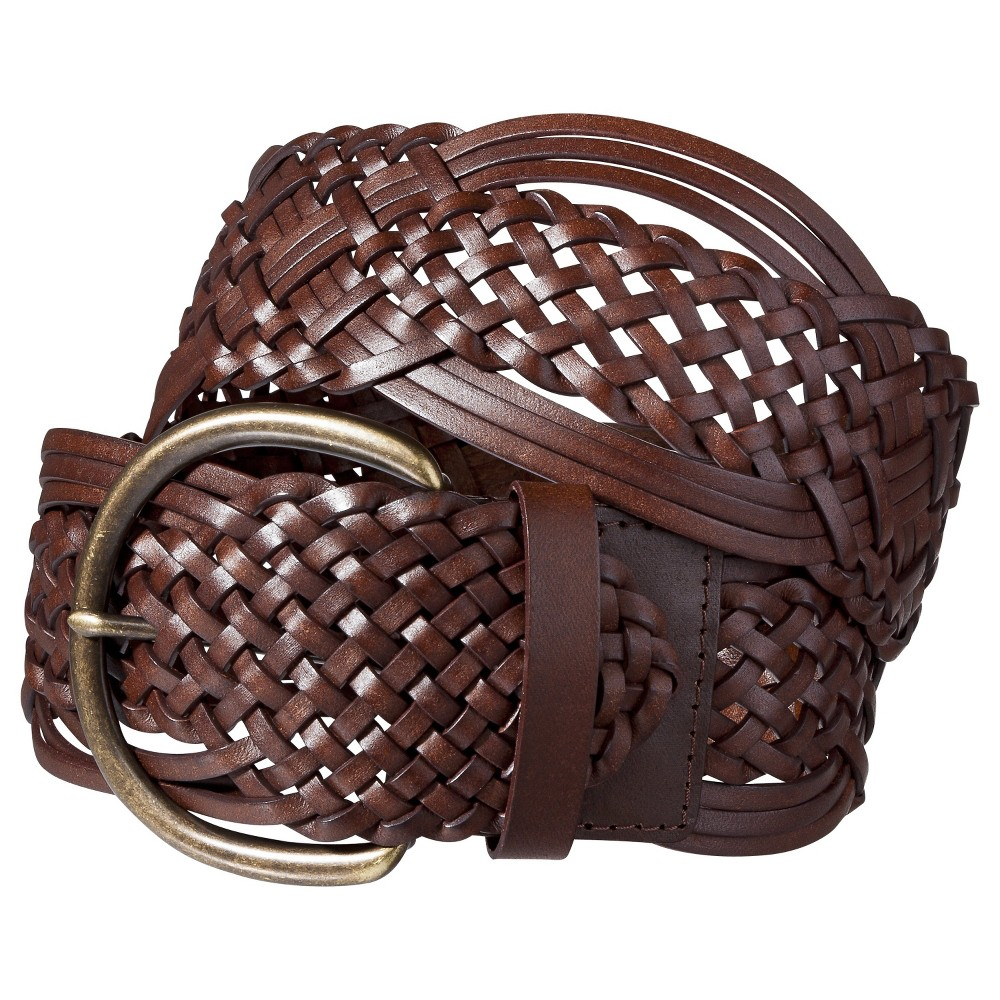 Womens Macrame Braid Belt - Brown - Merona, Size: Large