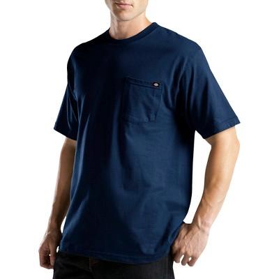 Dickies® Men's Big & Tall Short Sleeve Performance Wicking Pocket T-Shirt- Navy XXXL Tall