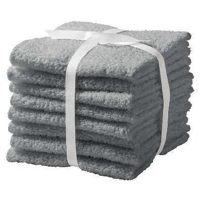 Washcloth Set Flat 8pk Gray - Room Essentials™