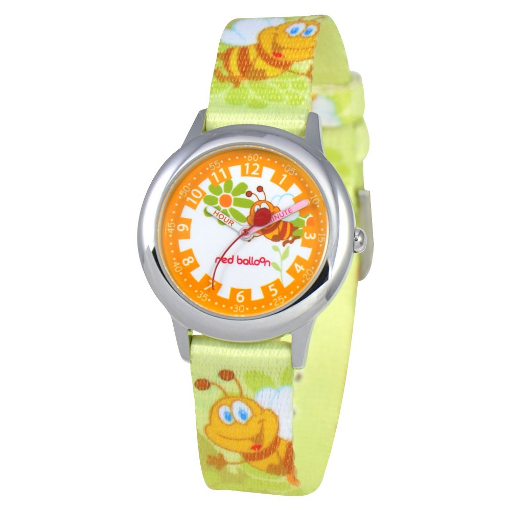 Red Balloon Kids Honey Bee Watch - Orange, Girls, Size: 30.0, Multi-Colored