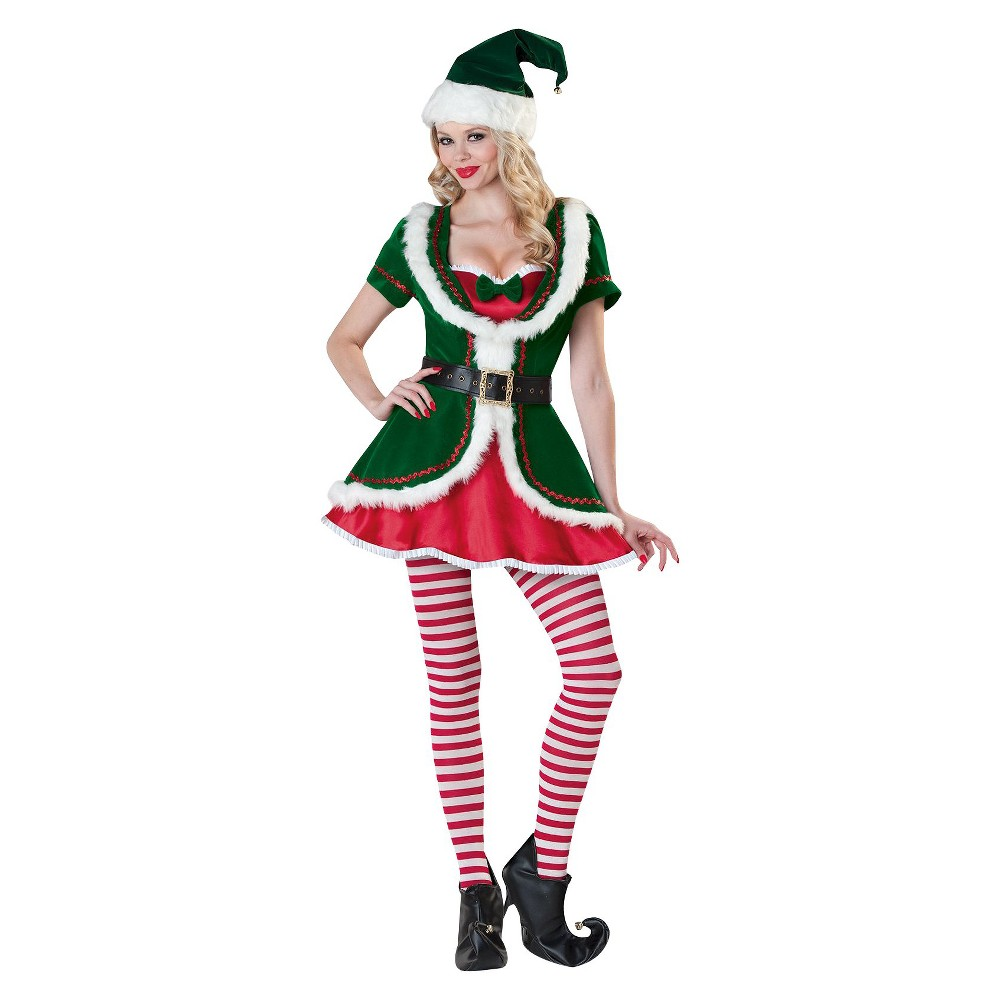 Womens Holiday Elf Costume - Large, Variation Parent