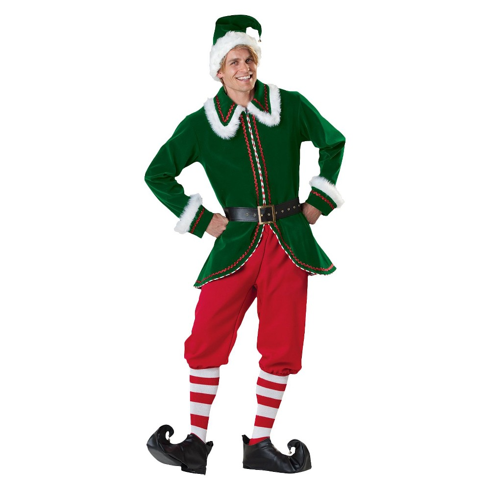 Adult Santas Elf Costume - Large, Mens, Variation Parent