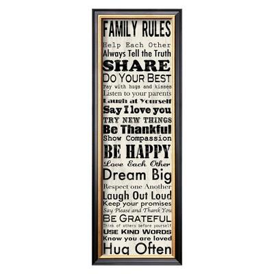 Art.com - Family Rules Panel Framed Print
