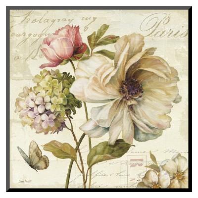 Art.com - Marche de Fleurs II Mounted Print