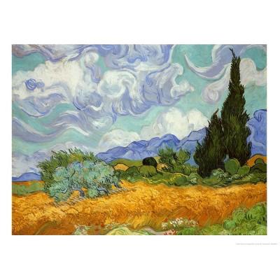 Art.com - Wheatfield and Cypresses Art Print