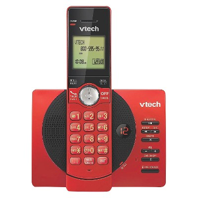 VTech® CS6929-16 DECT 6.0 Expandable Cordless Phone System with Answering Machine, 1 Handset - Red