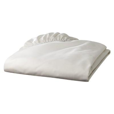 TL Care 100% Cotton Percale Fitted Crib Sheet - Ecru