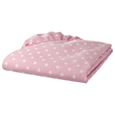 TL Care 100% Cotton Percale Fitted Crib Sheet - Pink Dot