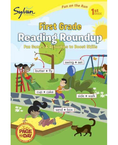 First Grade Reading Roundup (Sylvan Fun on the Run Series) by Sylvan Learning (Paperback) - image 1 of 1