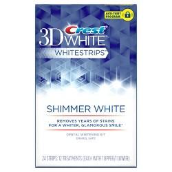 Crest 3D White Shimmer White Whitestrips - 12ct