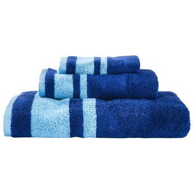 Fast Dry Stripe Bath Towel Blue - Room Essentials™