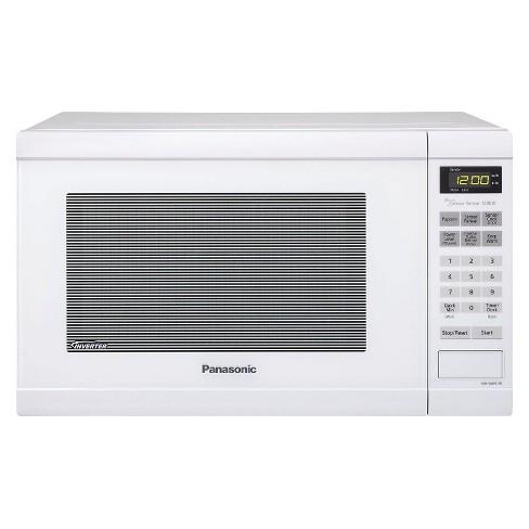 Panasonic 1 2 Cu Ft 1200 Watt Counter Microwave Oven White Nn Sn651w
