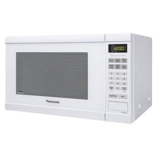 Panasonic 1 2 Cu Ft 1200 Watt Counter Microwave Oven White Nn Sn651w