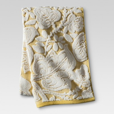 Floral Bath Towel Yellow - Threshold™