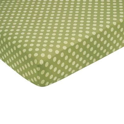 Sweet Jojo Designs Forest Friends Fitted Crib Sheet - Green Dot
