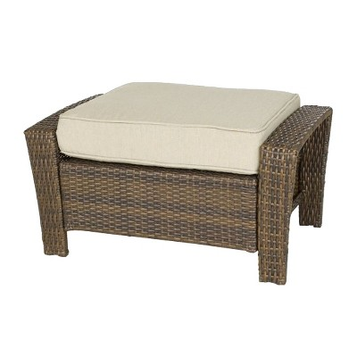 rolston wicker patio ottoman