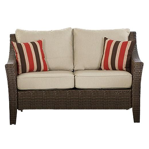 Rolston 3pc Outdoor Replacement Loveseat Cushion Set Threshold