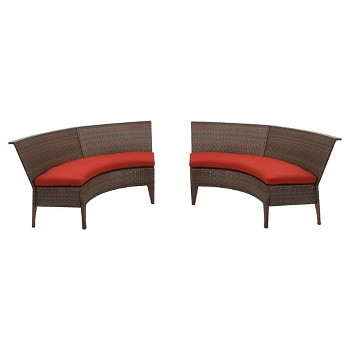 Threshold Rolston Wicker Double Dining Chairs