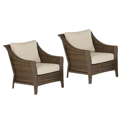 Rolston 2 Piece Wicker Patio Club Chair Set   Threshold™