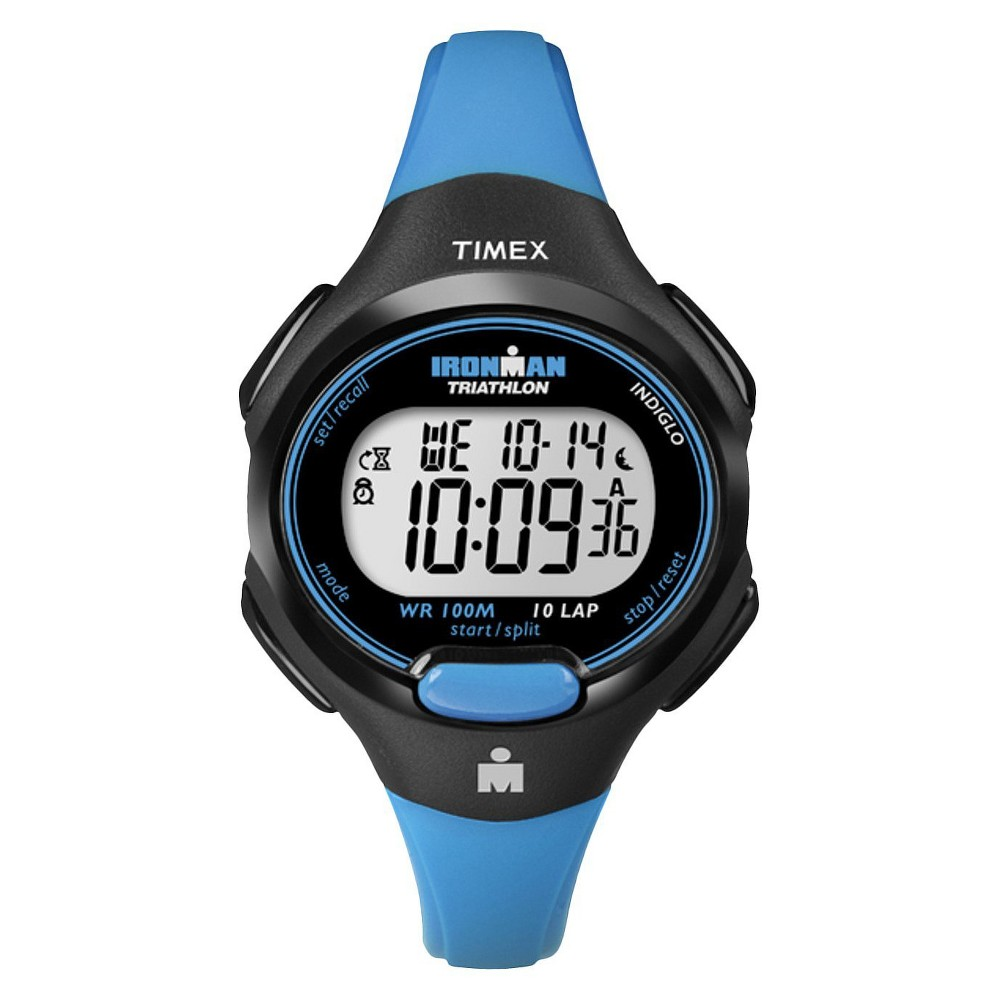 Womens Timex Ironman Essential 10 Lap Digital Watch - Blue T5K526JT, Blazer