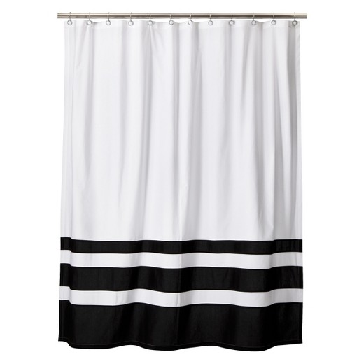 page color block shower curtain black white threshold