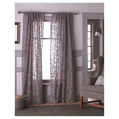 Botanical Burnout Sheer Curtain Panel   Threshold™
