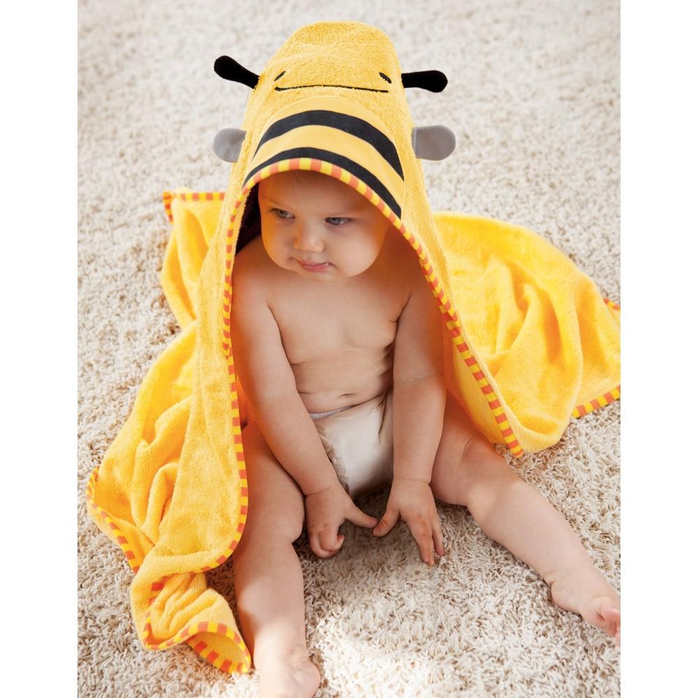 Skip Hop Zoo Toddler Towel and Mitt Set, Bee
