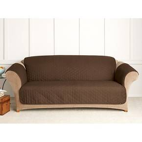 Quilted Duck Furniture Friend Pet Sofa Cover Chocolate