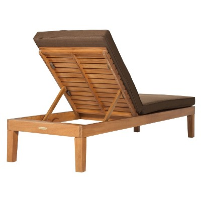 Brooks Island Wood Patio Chaise Lounge   Smith U0026 Hawken™