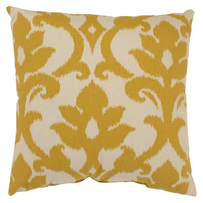Gold/Cream Damask Throw Pillow 16.5 x16.5  - Pillow Perfect®