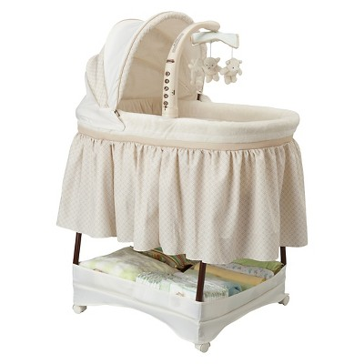Delta Children® Simmons Kids Elite Gliding Bassinet - Espresso Latte