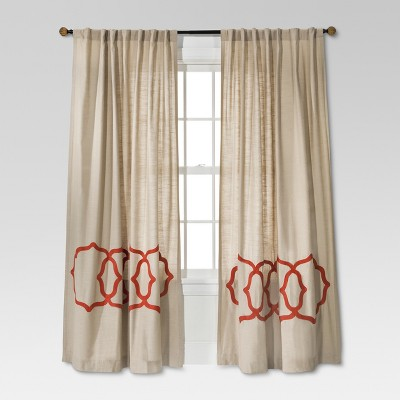 Fretwork Border Curtain Panel   Threshold™