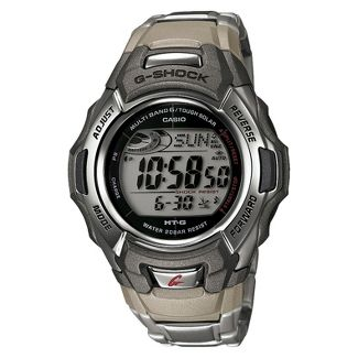 Casio Mens G-Shock Stainless Steel Tough Solar Atomic Digital Watch MTGM900DA-8